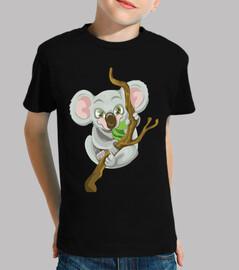 Koala mangeant / branche