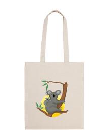 Koala,bolsa tela 100 algodón