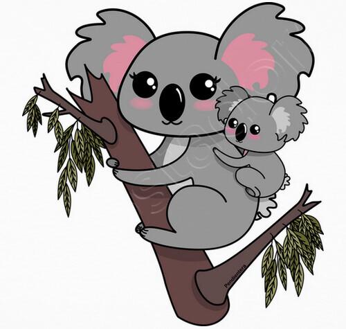 Sweat jersey koalas kawaii - 957053 | Tostadora.fr