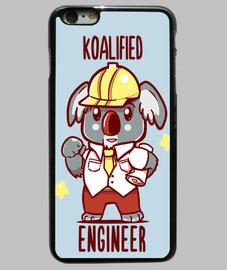 Koalified Engineer - Koala Animal Pun - Phone case