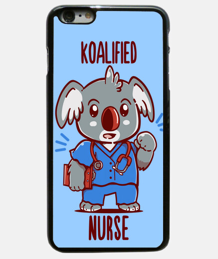 Koalified Nurse - Koala Animal Pun - Phone case