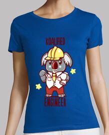 koalifizierte ingenieur - koala tier wortspiel - womans shirt