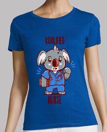 koalifizierte krankenschwester - koala tier wortspiel - womans shirt