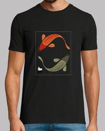 Koi Fishes Unisex Negre