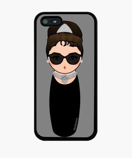 Funda iPhone Kokeshi Audrey con gafas