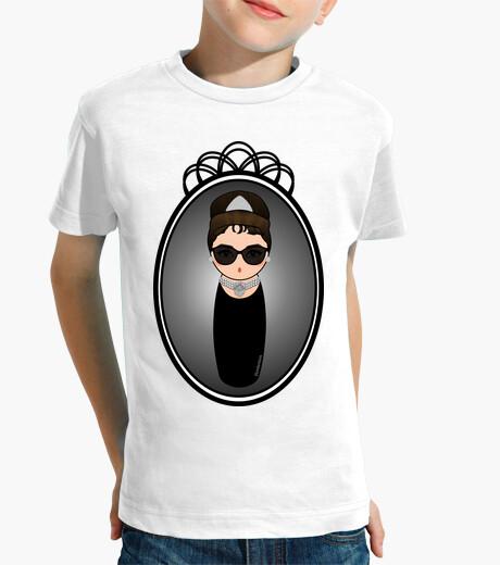 Ropa infantil Kokeshi Audrey Hepburn con gafas