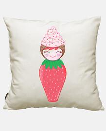 kokeshi cupcake aux fraises