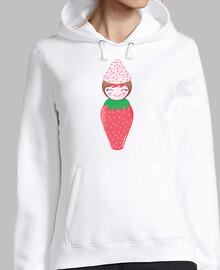 Kokeshi Cupcake de fresa