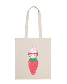 kokeshi cupcake fraise