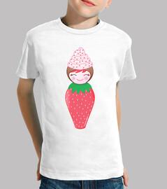 kokeshi cupcake strawberry