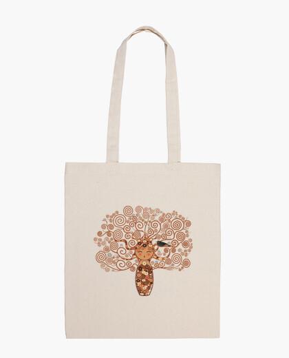 Bolsa Kokeshi El árbol de la vida estilo Klimt