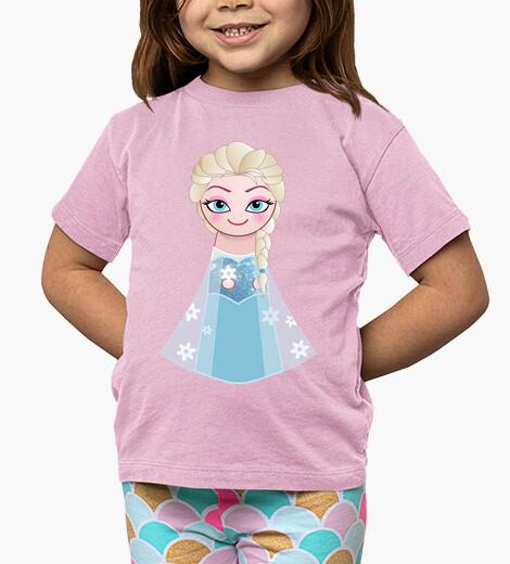 Ropa infantil Kokeshi Elsa de Frozen sonriente