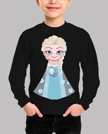 Kokeshi Elsa de Frozen sonriente
