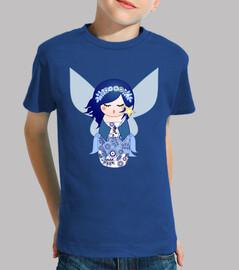 kokeshi fée bleue