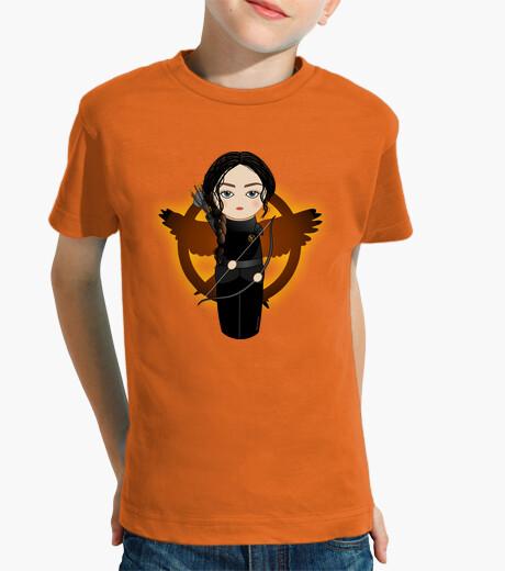 Ropa infantil Kokeshi Katniss con sinsajo