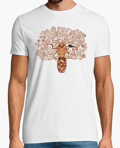 T-shirt kokeshi l'albero della vita klimt stile