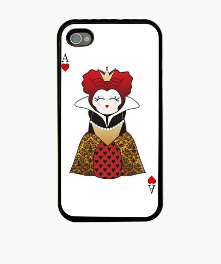 Coque iPhone kokeshi reine des coeurs