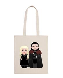 Kokeshis Daenerys y Jon Nieve