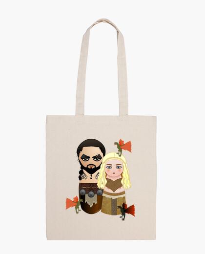 Bolsa Kokeshis Drogo y Daenerys