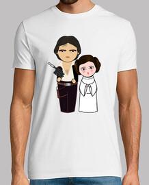 Kokeshis Han Solo et princesse Leia