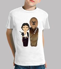Kokeshis Han Solo y Chewbacca