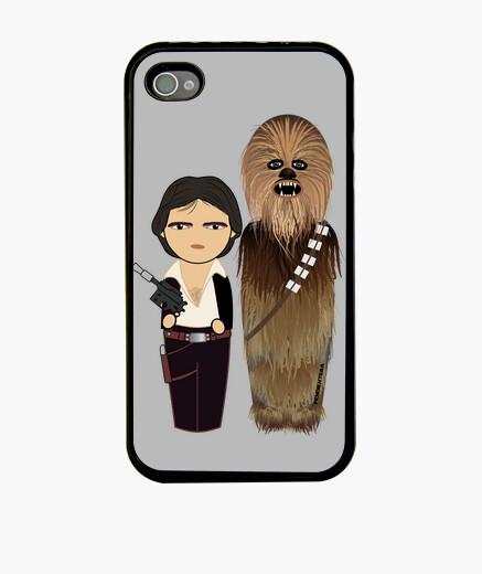 Funda iPhone Kokeshis Han Solo y Chewbacca