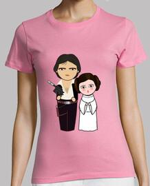 Kokeshis Han Solo y Princesa Leia