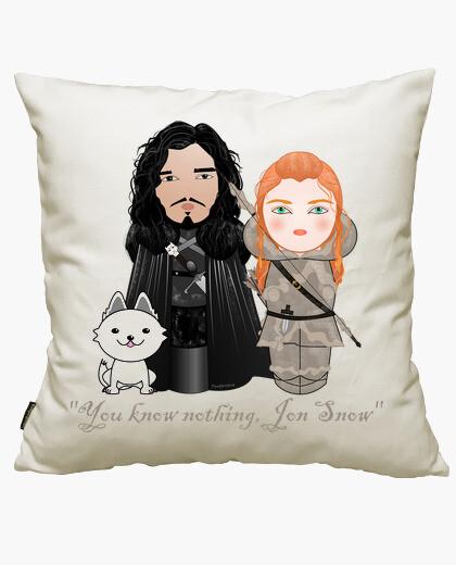 Funda cojín Kokeshis Jon Snow e Ygritte