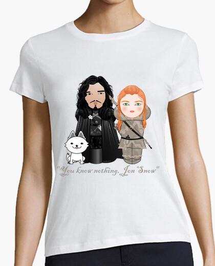 Camiseta Kokeshis Jon Snow e Ygritte