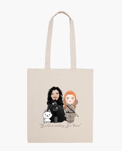 Bolsa Kokeshis Jon Snow e Ygritte