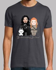 Kokeshis Jon Snow et Ygritte