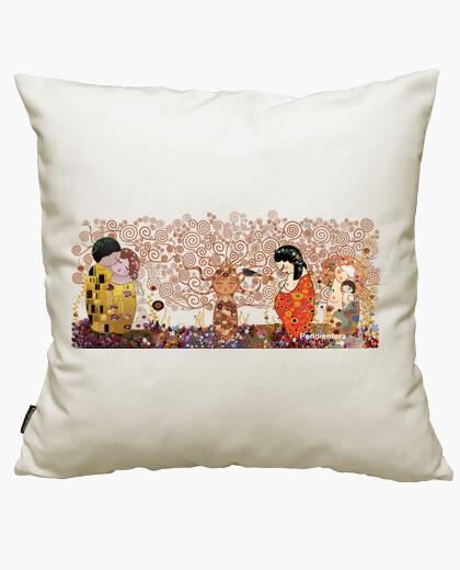 Funda cojín Kokeshis Klimt