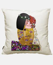 Kokeshis lesbianas El beso estilo Klimt
