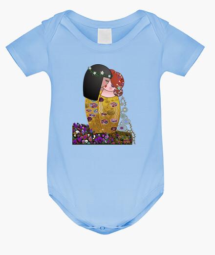 Ropa infantil Kokeshis lesbianas El beso estilo Klimt