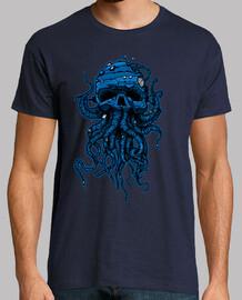 Kopf kraken / oktopus blau l