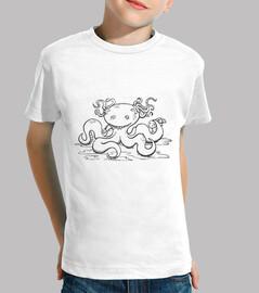 kraken / oktopus zombie - t-shirt kind