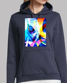 KRAYOLIGHT Arte Abstracto Mujer, jersey con capucha