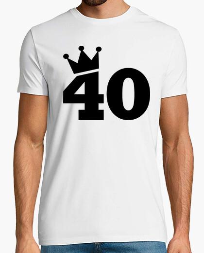 T-Shirt krone 40. geburtstag