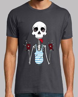 kühles skelett.