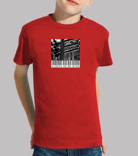 kultiger t-shirt junge, manga , rot