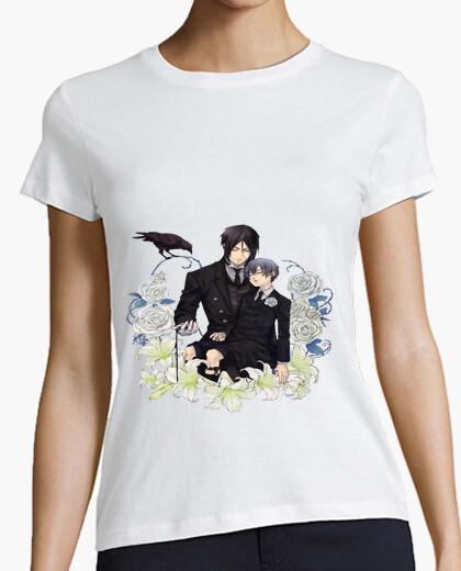 Camiseta kuroshitsuji con Sebastian y Ciel.