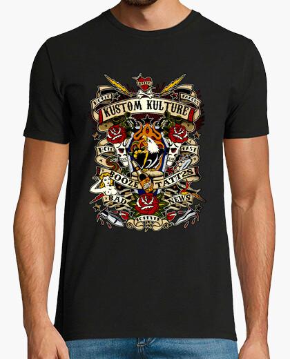 T-shirt kustom kulture eagle uomo
