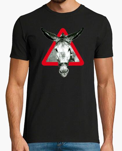 T-shirt l'asino è un asino per testardo (petto) qualità extra