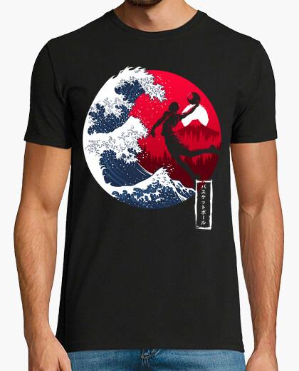 T-shirt l'ondata di basket