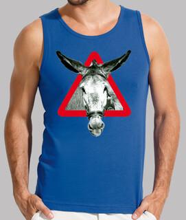 l' âne est un âne par têtu (poitrine)