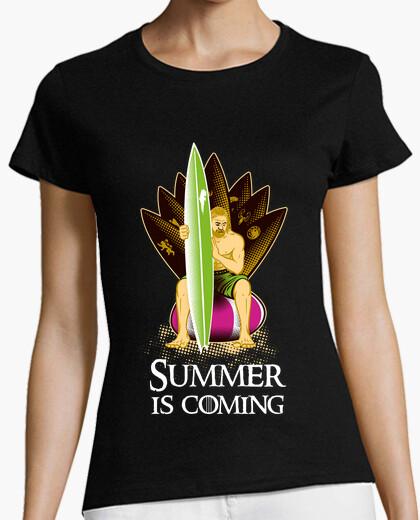 Tee-shirt l' été est à coming # 1
