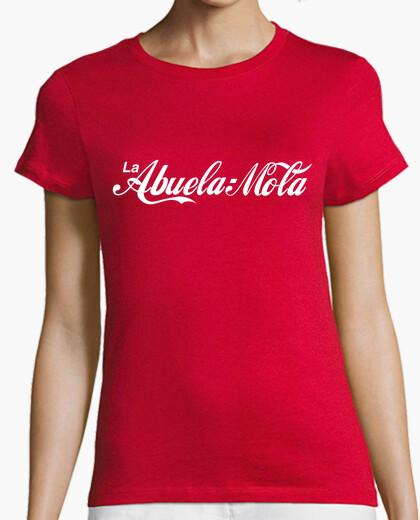 Camiseta La Abuela Mola (Logo CocaCola) Fondo Rojo