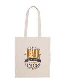 la barba es un regalo para nuestra bolsa cara
