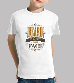 la barba es un regalo para nuestros hijos enfrentan camiseta