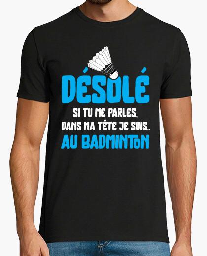 Camiseta la cabeza de bádminton regalo